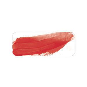 Oil paint colour swatch pyrrole red