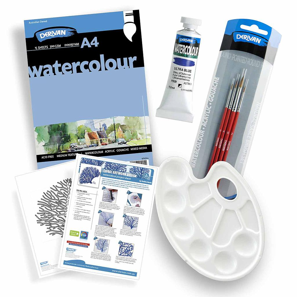 Watercolour Painting Set - Coral Design Project
